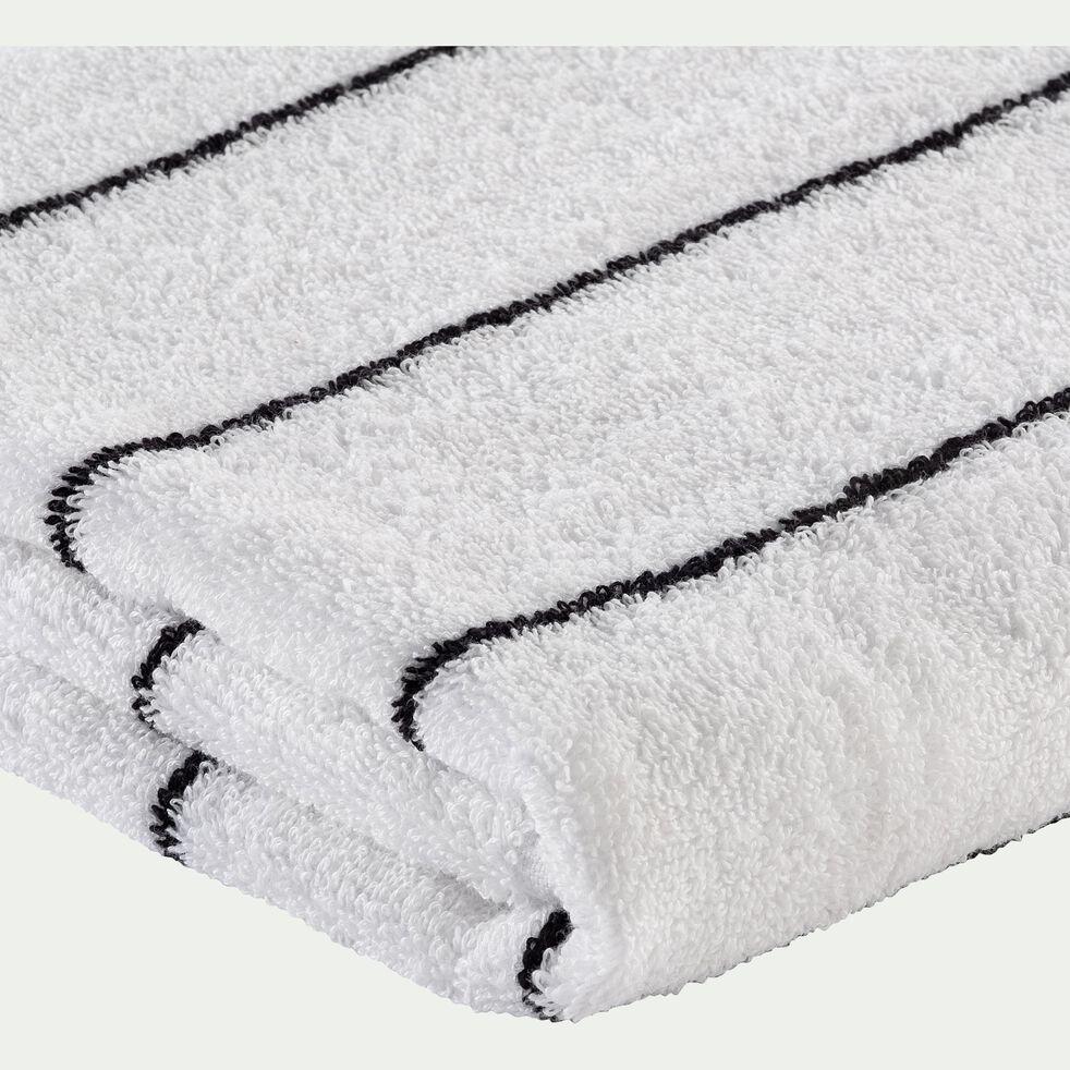 Serviette de toilette en coton - blanc ventoux 50x100cm-Gaeta