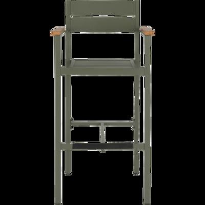 Chaise de bar en métal vert cèdre-ALEP