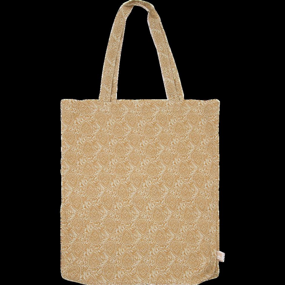 Housse de couette en lin motif Amandes - 240x220 cm-GOYA