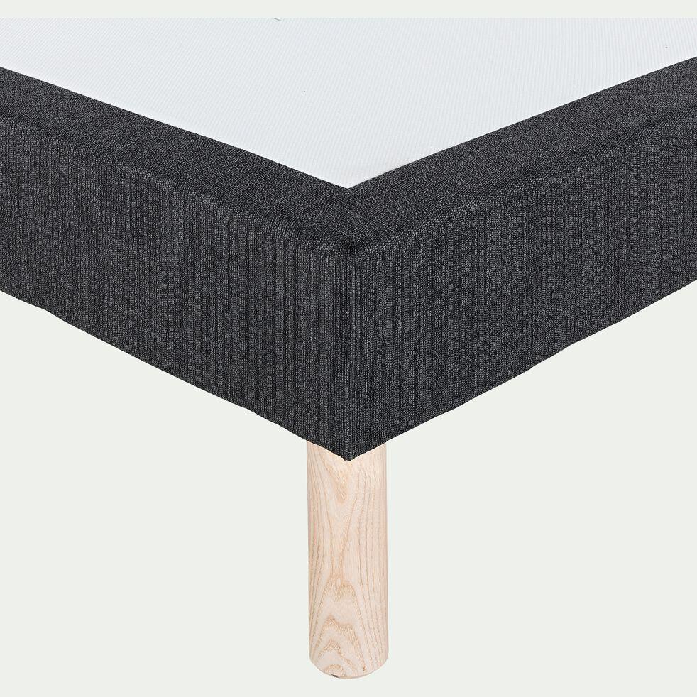 Sommier tapissier 160x200cm gris anthracite-REDON