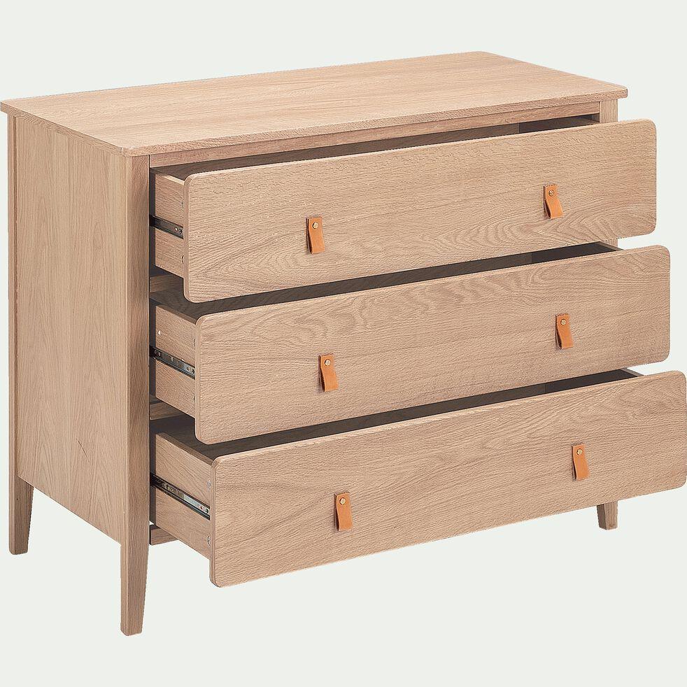 Commode en bois 3 tiroirs-CONSTANCE