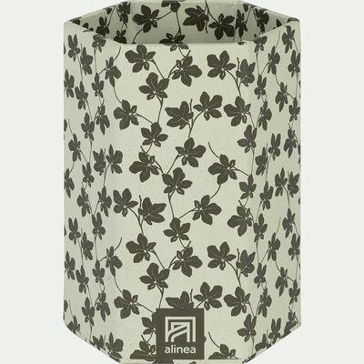 Pot à crayon en carton motif figuier-FIGUIER