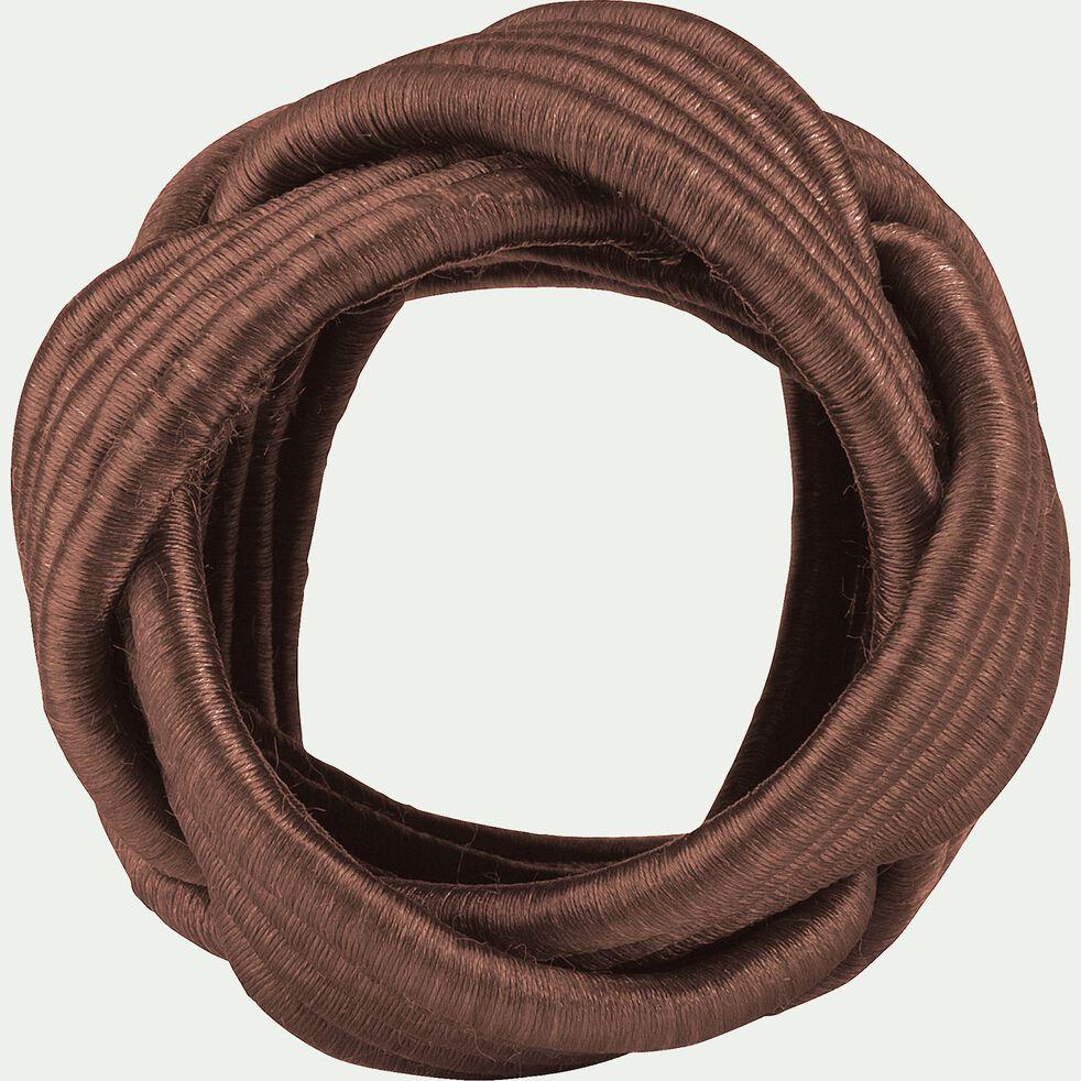 Lot de 4 ronds de serviette en coton rouge D5cm-QUARI