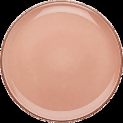 Assiette plate en faïence rose grège D27cm-LANKA