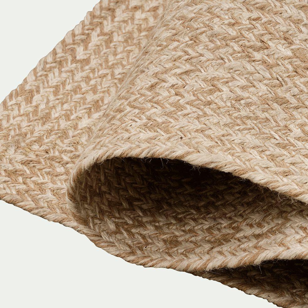 Tapis tressé en jute - naturel 60x90cm-LENGO