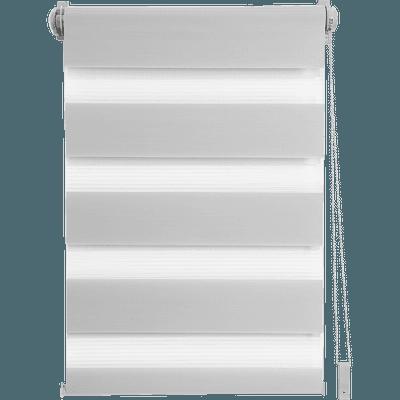 Store enrouleur tamisant gris clair 92x190cm-JOUR-NUIT