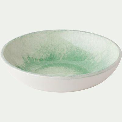 Assiette creuse en faïence verte D16cm-PAOLA
