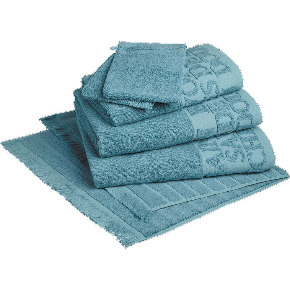 Drap de bain 100x150cm à liteau motifs bleu-BULLY
