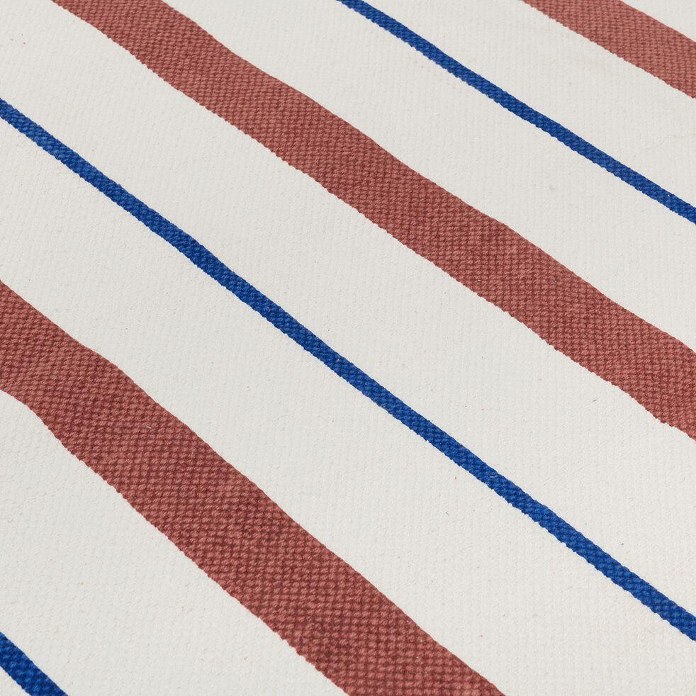 Tapis en coton tissé plat imprimé rayures - multicolore 120x160cm-Siesta