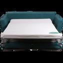 Canapé 3 places convertible en tissu vert-ICONE