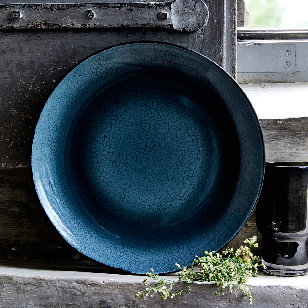 Gamme de vaisselle en grès bleu et noir-IMPERIA