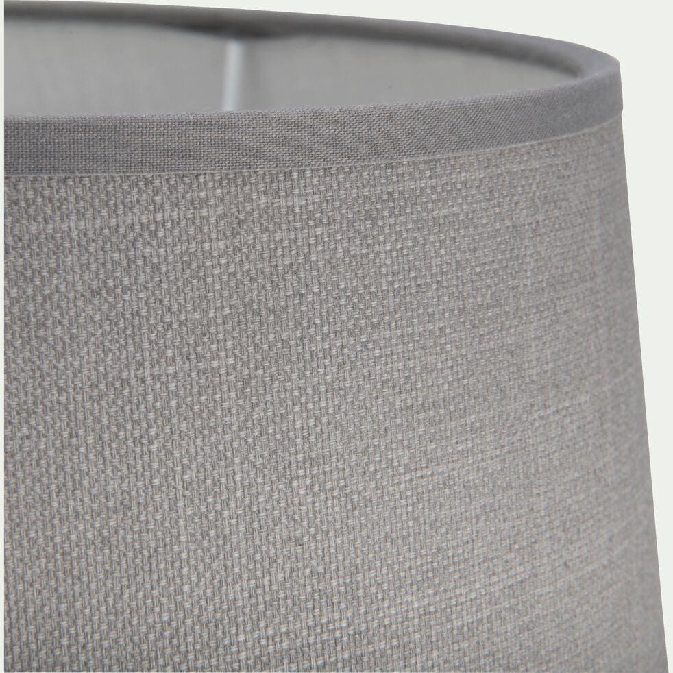 Abat-jour tambour en coton - D23cm gris restanque-MISTRAL
