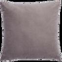 Coussin en velours gris restanque 45x45cm-EDEN