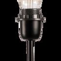 Pied de lampadaire en métal noir H140cm-MIKY