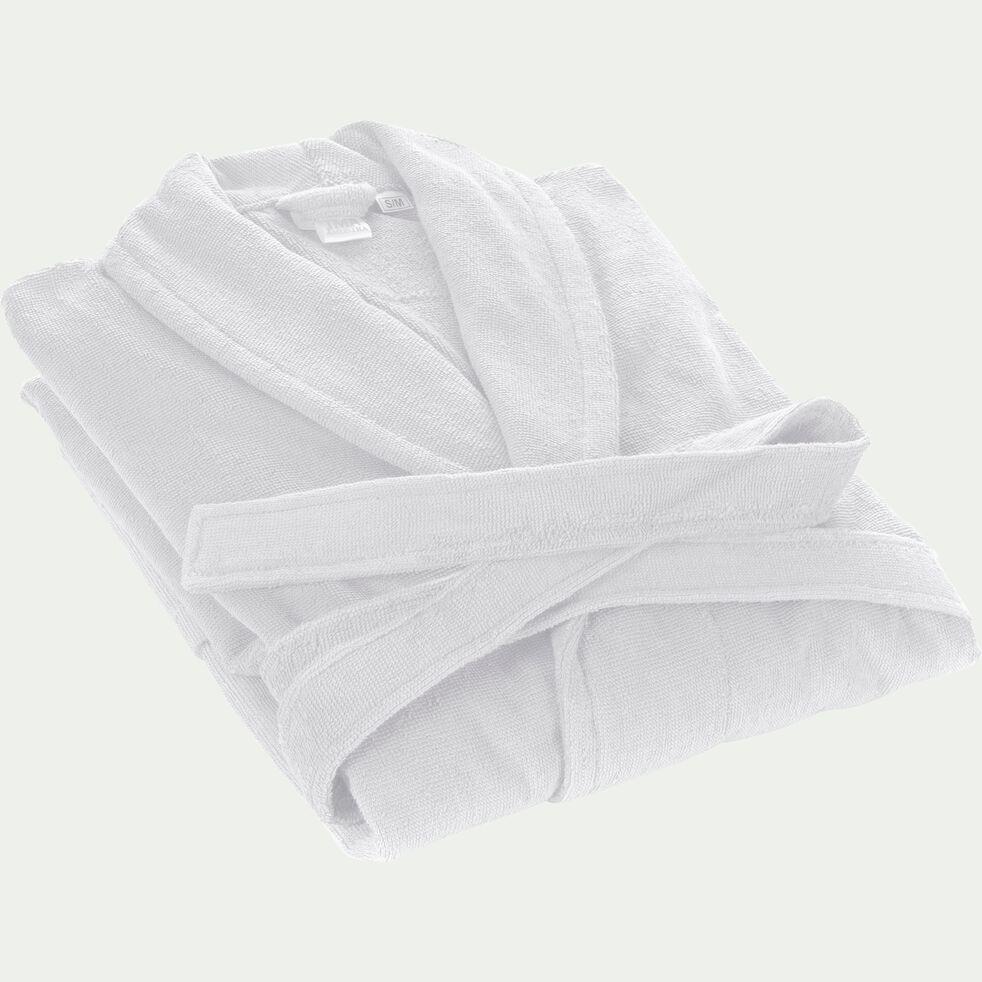 Peignoir en coton et polyester - blanc capelan M-AZUR