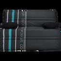 Housse pour BZ 140cm noire à motifs-COLORS
