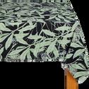 Nappe en lin et coton noir 170x250cm-OMBRAGE