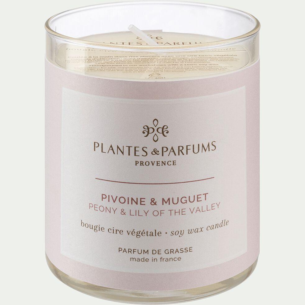 Bougie parfumée senteur Pivoine Muguet 180g-PIVOINE MUGUET