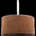 Suspension non électrifiée en velours camel D40cm-VELOURS