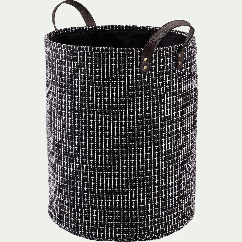 Panier à linge noir D38x50cm-TANGUY