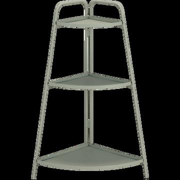 Étagère en acier vert olivier H90cm-MONTECRISTO