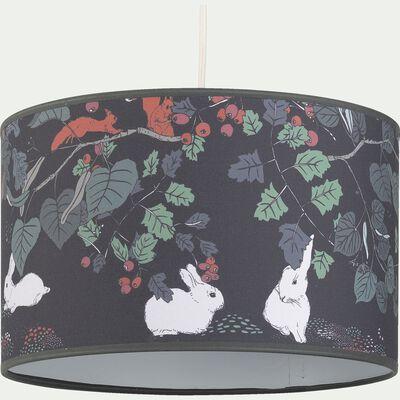 Abat-jour motif sous-bois d35cm - multicolore-Sero