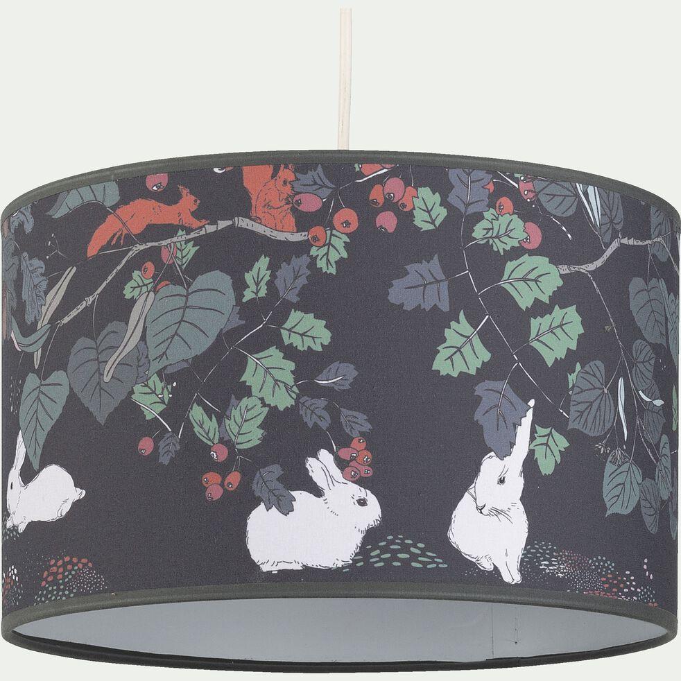 Abat-jour motif sous-bois d30cm - multicolore-Sero