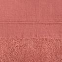 Drap de douche 70x140cm en coton rose-MINH