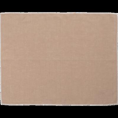 Set de table en lin et coton rose argile 36x48cm-MILA