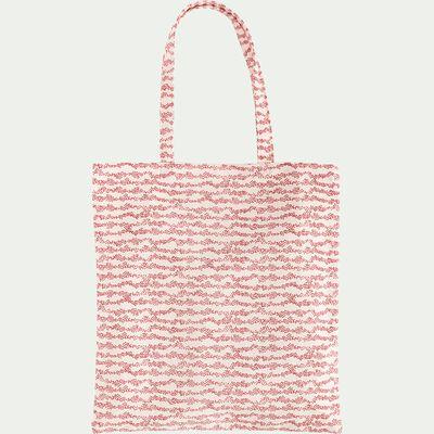 Sac en coton inspiration pointillisme - rouge 38x42cm-UMIN