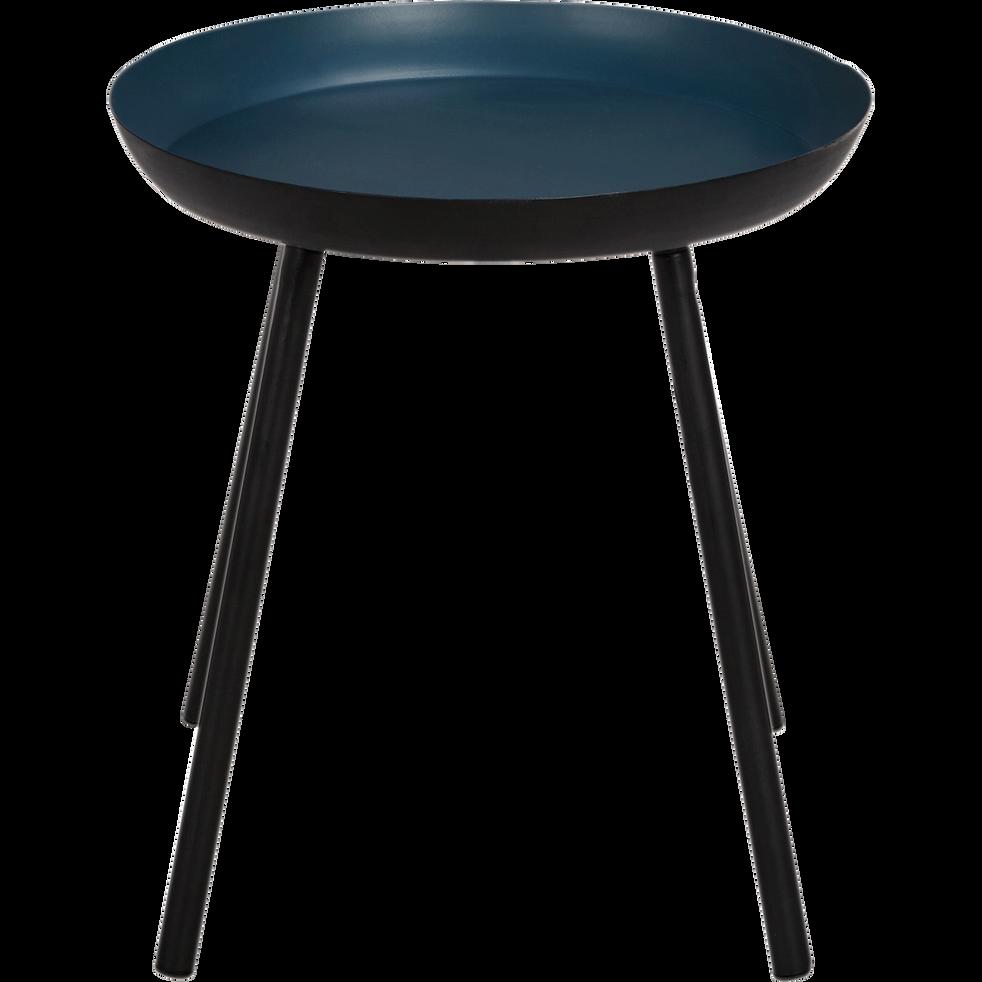 bout de canap en acier bleu figuerolles soufio les indispensables d 39 alinea alinea. Black Bedroom Furniture Sets. Home Design Ideas