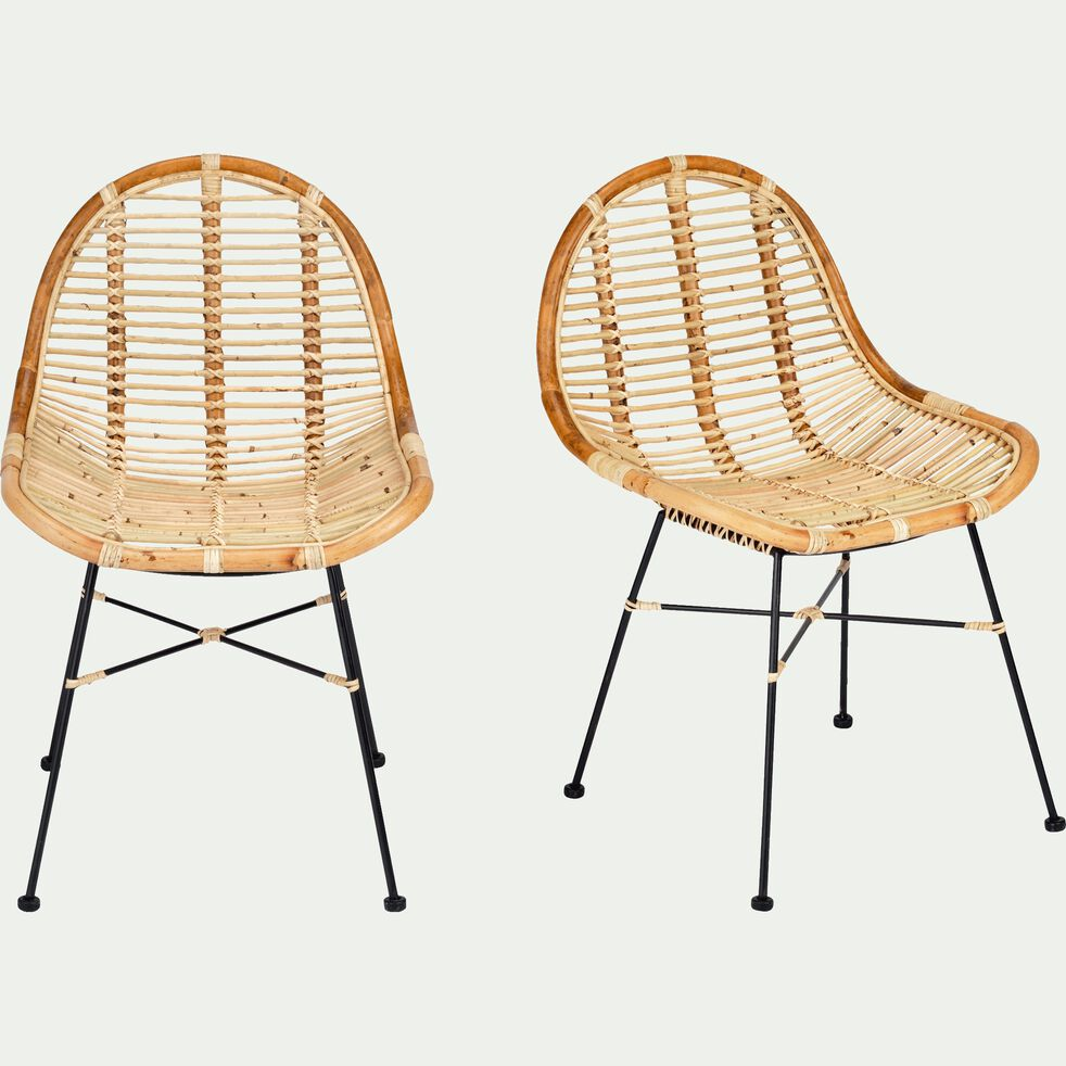 Chaise en rotin - naturel-ISRA