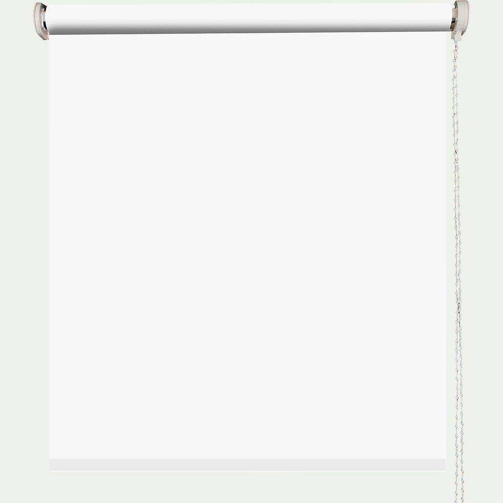Store enrouleur uni tamisant - blanc 120x190cm-TAMISANT