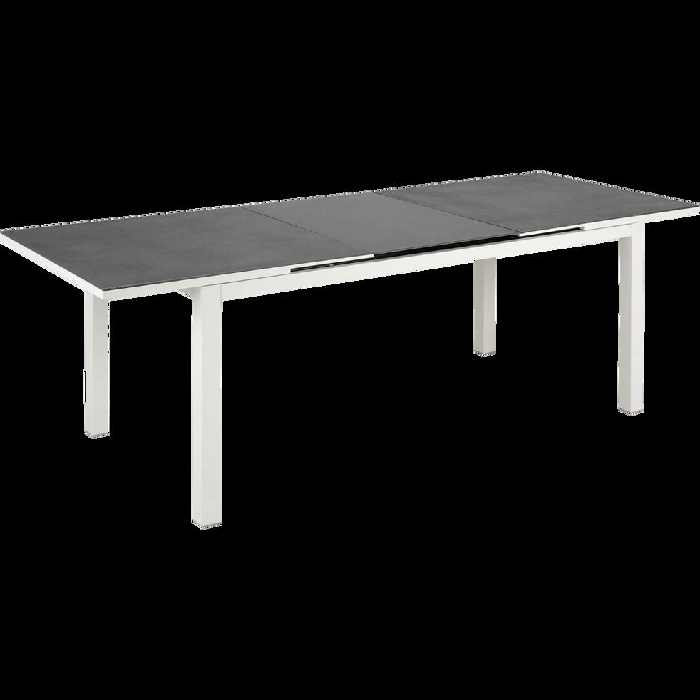 LANCIANO - Table de jardin extensible en verre et aluminium (6 à 10 places)