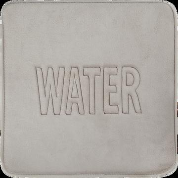 Tapis de bain 50x50cm à mémoire de forme taupe-WATER