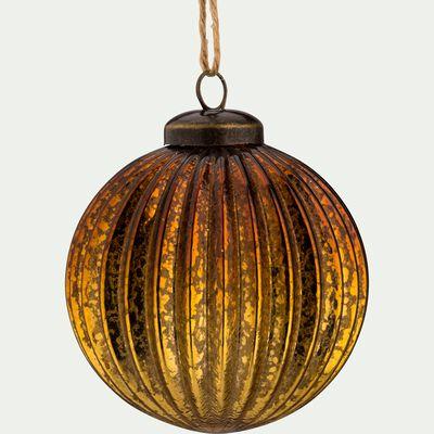 Boule de Noël en verre doré D8cm-AFLOU