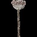 Branche en plastique rose givre H70cm-PACO
