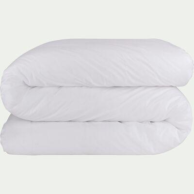 Housse de couette en percale de coton - blanc 260x240cm-FLORE