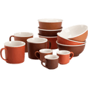 Coupelle en porcelaine marron D12,5cm-CAFI