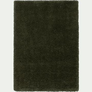 Tapis à poils longs - vert cèdre 160x230cm-KRIS