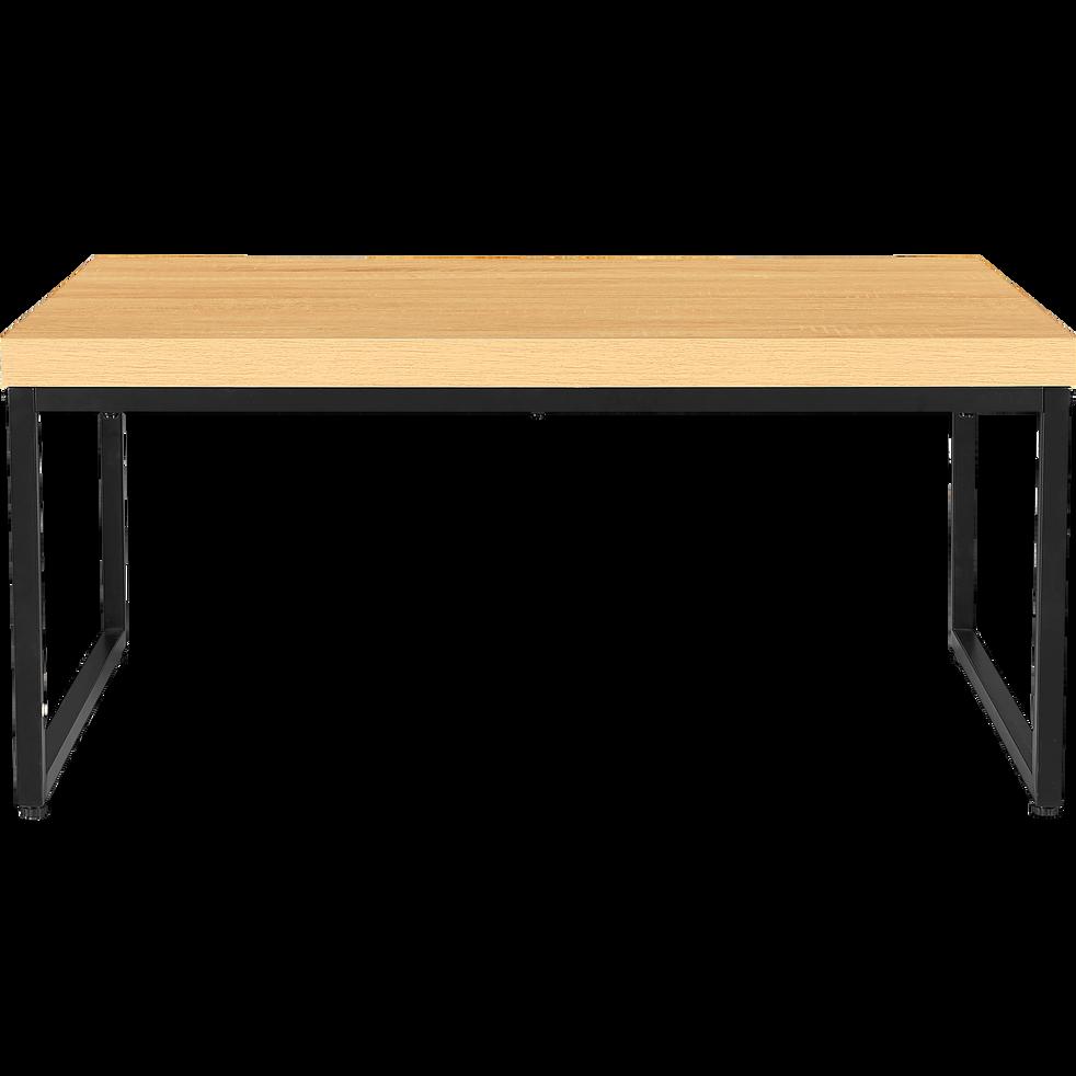 table basse effet ch ne et m tal vanille tables basses. Black Bedroom Furniture Sets. Home Design Ideas