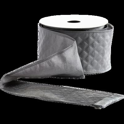 Ruban en polyester argenté-GABRIELLE