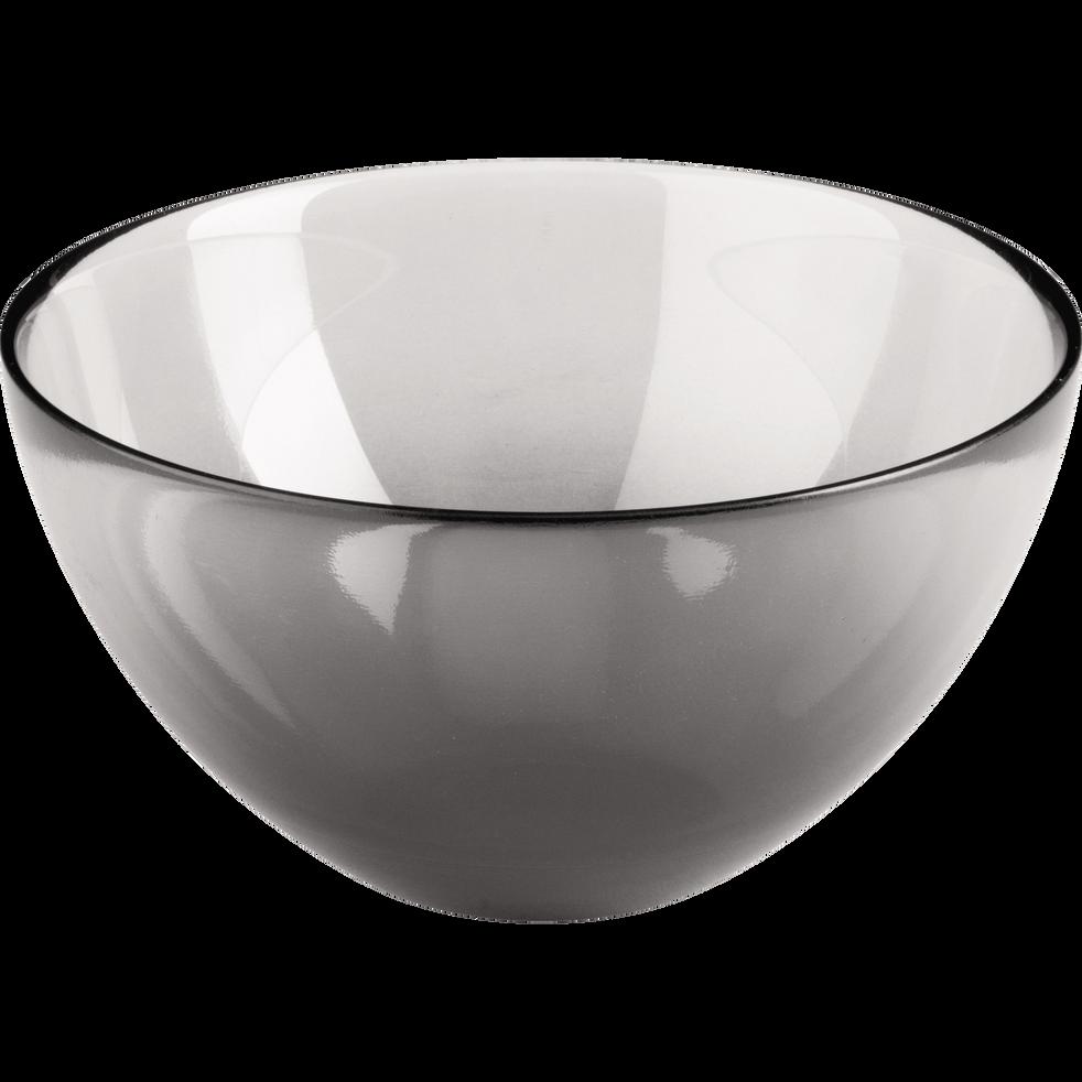 Coupelle en verre noir D16cm-AURORE