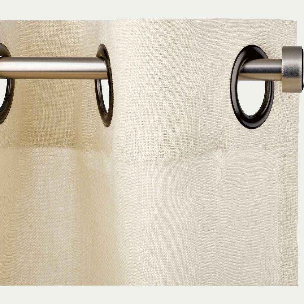 Kit tringle à rideau extensible en acier 70 à 120cm - gris-MANON