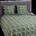 Housse de couette en coton 260x240cm et 2 taies d'oreillers avec motif fleuri-FLEURI