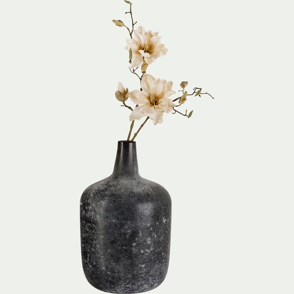 Vase bouteille émaillé en verre - noir H40cm-AMBRA