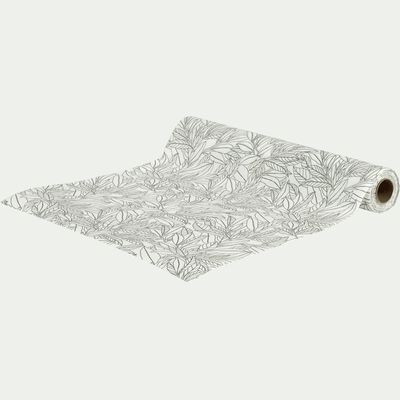30 sets de table détachables en papier blanc motif laurier-LAURIER