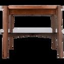 Table basse plaquée noyer et plateau en verre-SIMOUNO