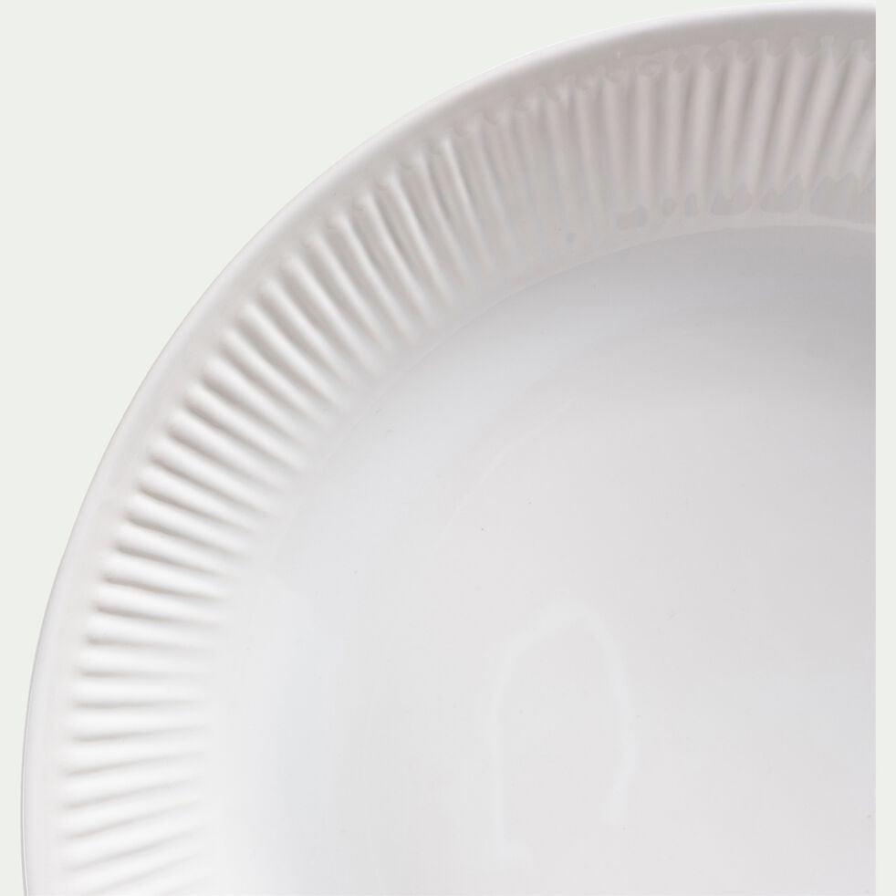 Plat creux en faïence D30cm - blanc ventoux-MORA
