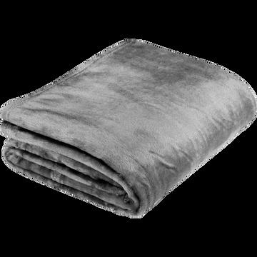 Plaid doux gris restanque (plusieurs tailles)-ROBIN